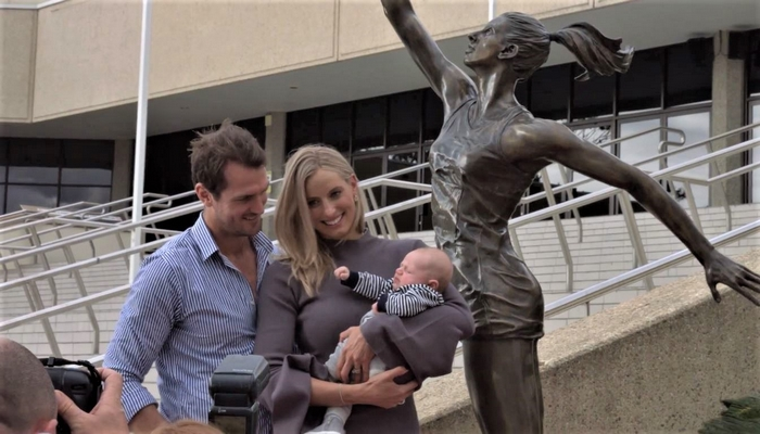Bronze Statue of Queensland  Firebirds Netball Legend Moved to Permanent Home at QSNC